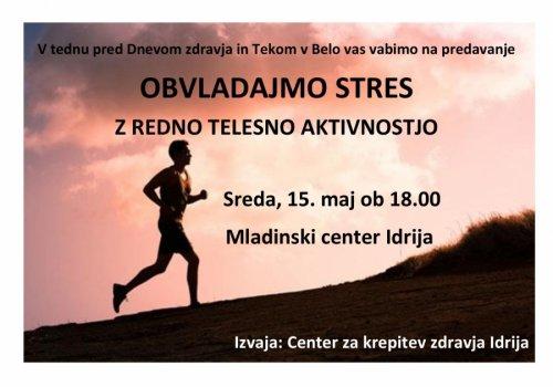 Obvladajmo stres z redno telesno aktivnostjo